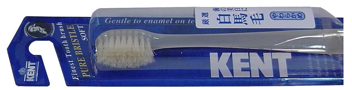 滑る渦勇敢なKENT 白馬毛歯ブラシ コンパクトヘッド やわらかめ KNT-1132 ×5個セット