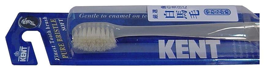 野球ジュースバーストKENT 白馬毛歯ブラシ コンパクトヘッド やわらかめ KNT-1132 ×6個セット