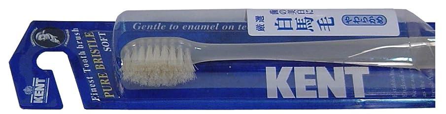 寸法証書リムKENT 白馬毛歯ブラシ コンパクトヘッド やわらかめ KNT-1132 ×3個セット