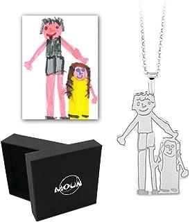 Collana o bracciale personalizzato con il disegno di tuo figlio in argento 925.
