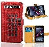 Sony Xperia E1 Handy Tasche, FoneExpert Wallet Case Flip Cover Hüllen Etui Ledertasche Lederhülle Premium Schutzhülle für Sony Xperia E1