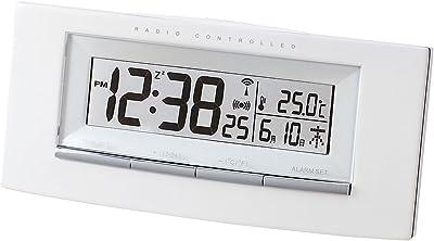 NOA (ノア) 電波時計 目覚し時計 タクティクス カレンダー T-538-r WH ホワイト