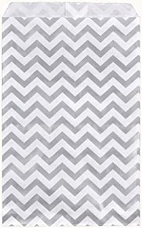 200 pcs Chevron Paper Gift Bags Shopping Sales Tote Bags 6