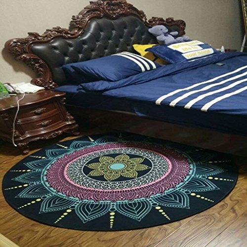 DSJ tapijt rond tapijt in woonkamer slaapkamer voor het bed koffie tafel stoel gebied tapijt tapijt bloemmotief, diameter 140cm