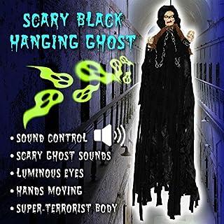 BenefitUSA ZH0068 Hanging Halloween Ghost Decoration, Black