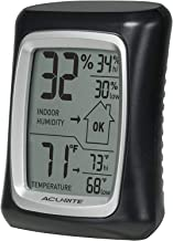 AcuRite 00325 Indoor Thermometer & Hygrometer with Humidity Gauge, Black, 0.3 (Black (2-Pack))