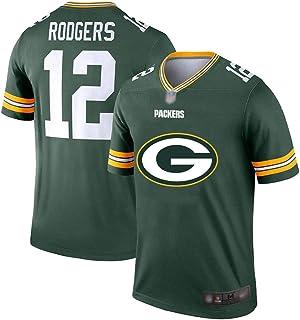 Aaron Rodgers Herren Rugby-Trikot #12, American Football Jersey Elite Edition Jersey Kurzarm Top Stickerei Fans Version Fan T-Shirts