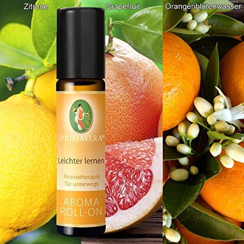 Primavera Primavera bio aroma roll-on deoroller bioduft 100% naturreine ätherische Öle duft:leichter lernen