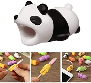 DECVO Cable Protector for iPhone iPad Cable Android Samsung Galaxy Cord Plastic Cute Land Animals Phone Accessory Protects USB Charger Data Protection Cover Chewers Earphone Cable Bite (Panda)