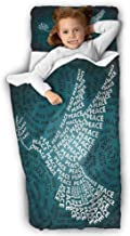 Outer Space Kids Sleeping Bag Dove Symbol with Peace Soft Microfiber for Preschool 50X20 INCH