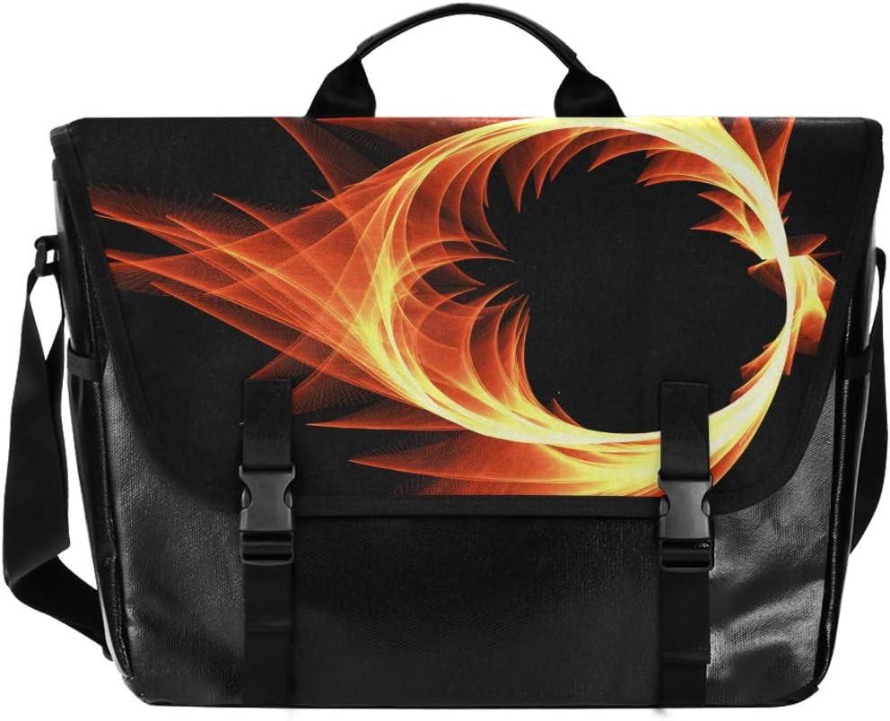 Max 80% OFF Messenger Bag Fire Phoenix Unisex Office Briefcase Casua Max 64% OFF Satchel