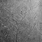 EZ FAUX DECOR Marble Self Adhesive Granite Gray Matte Soapstone Roll Kitchen Countertop Cabinet Furniture Instant Update. Easy to Remove Thick Waterproof PVC Vinyl Laminate Film. (36' x 120')