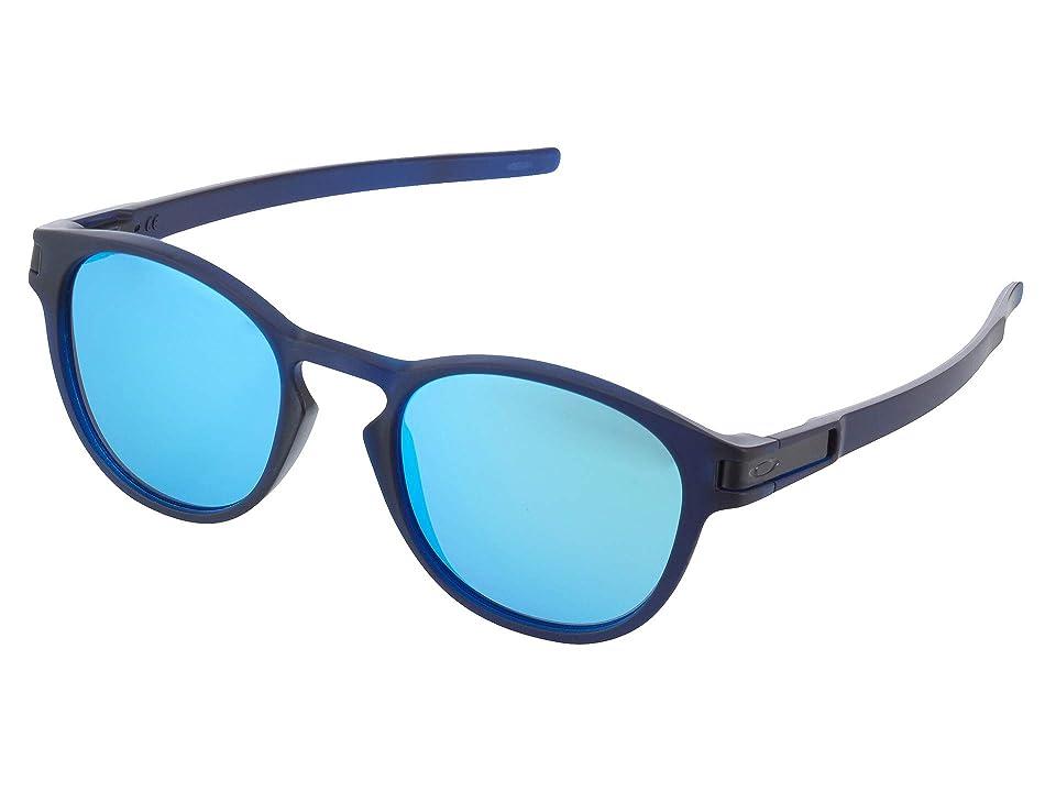 Oakley Latch (Matte Trans Blue/Sapphire Iridescent) Fashion Sunglasses