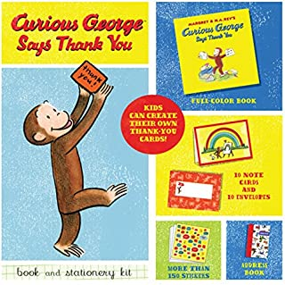 Curious George Says Thank You Book and Stationery Kit