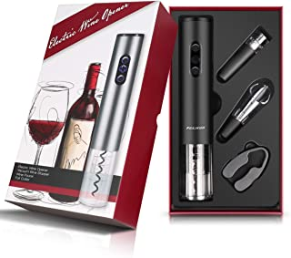 Electric Wine Opener,Electrical Wine Bottle Opener,FGXJKGH[2019Upgraded] ,Wine Opener, 4Pcs Electrical Wine Bottle Opener,Kit Support Party,Set Household,Christmas, Marriage,Meeting, Dance,Dinner,Automatic Wine Bottle Opener (BLACK)