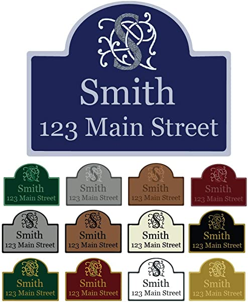Mystic Sloth Custom Aluminum Wall Mounted Address Sign 11 5 X 15 25 With Rounded Top