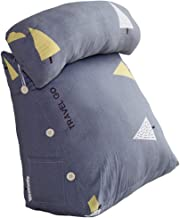 Color : Grey, Size : 55x38x20cm LIQICAI Bed Backrest Cushion Backrest Pillow With Arms Office Chair Car Seat Reading Watching TV Polypropylene Cotton