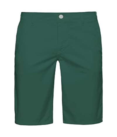 BOSS Hugo Boss Regular Fit Satin Stretch Shorts (Medium Green) Men