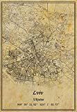 Ukraine Lviv Karte Wandkunst, Poster auf Leinwand,