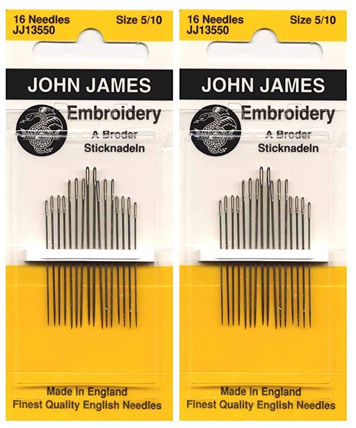 Colonial Needle Crewel/Embroidery Hand Needles-Size 5/10 16/Pkg 2pack