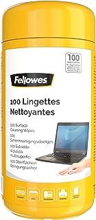 Fellowes Boite 100 Lingettes nettoyantes pour le Bureau, pour les claviers, souris et accessoires, sans alcool, biodégrada...
