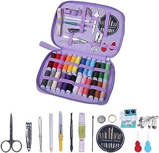Proumhang 27 piezas Kit de costura completo con caja cuadrada Kit de costura de viaje