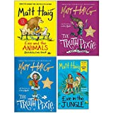 Matt Haig 4 Books Collection Set (Evie in the Jungle (Paperback),Evie and the Animals, The Truth Pixie Goes to School, The Truth Pixie)