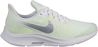 Official Brand Nike Air Zoom Pegasus 35 Trainers Junior Girls White/Silver Sneakers Footwear