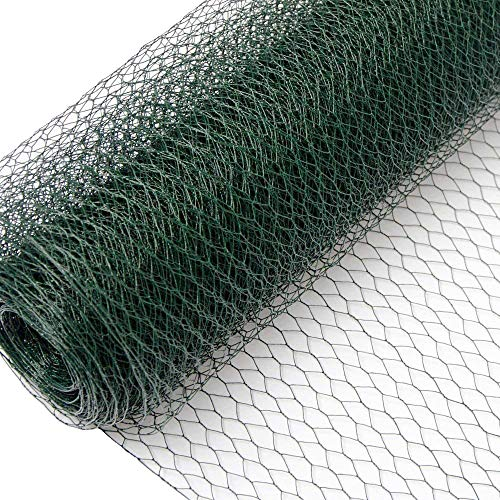 Niederberg Metall Mallas de Alambre | Valla de Tela Metálica | Malla Hexagonal 13x13mm | Valla para Animales y Plantas 25 m de Largo | Altura 100 cm | 0,8mm Revestimiento de PVC Verde