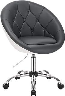 WOLTU 1 X Tabouret de Bureau Tabouret Roulant réglable en Hauteur,Chaise de Bureau pivotante Tabouret de Travail en Simili...