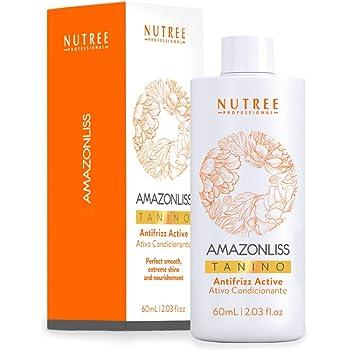 Hair Straightening Brazilian Treatment - Amazonliss Tanino - Smoothing, Hydrating, Repairing, Extreme Shine Effect - Formaldehyde Free, Paraben and SLS free - 2.03 Fl.oz