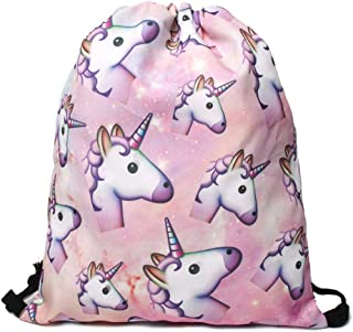 Canvas Soft Backpack with Unicorn Design