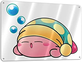 not Cute Sleeping Kirby Customized and Personalized, Single Sided, Aluminum, Sign 11.8 7.9 Inches