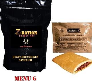 MRE Z-Ration (Zombie MRE) Custom Meals Ready to Eat! (MENU G - Honey BBQ Chicken)