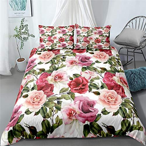 Bedclothes-Blanket Juego sabanas de Cama 150,Rosa 3D-3_260 × 220cm