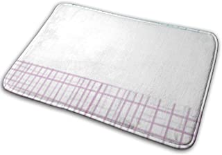BLSYP Alfombra Antideslizante para Puerta de Bienvenida Franela Textil Abstracto Moderno Patrón de Rayas Coloridas Alfombr...