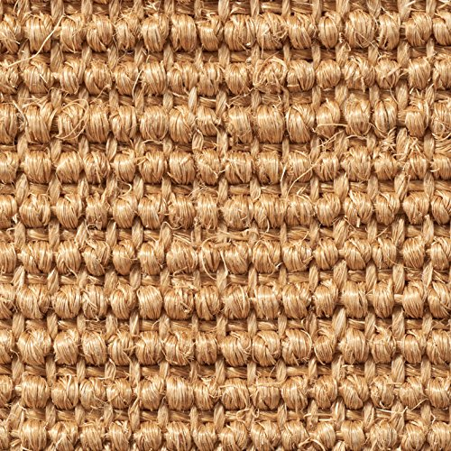 Teppichboden Auslegware | Sisal Naturfaser Schlinge | 400 cm Breite | natur hell-braun | Meterware, verschiedene Größen | Größe: 5 x 4m