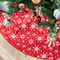 DegGod 48 inches Checked Christmas Tree Skirt, Red and…