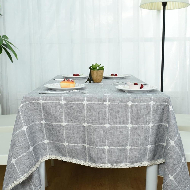 BiuTeFang Tischdecken Frische und einfache Tischdecken Tischdecken Karierten Tischdecken Tuch B07BZCJ6RL Billig ideal  | Qualitativ Hochwertiges Produkt