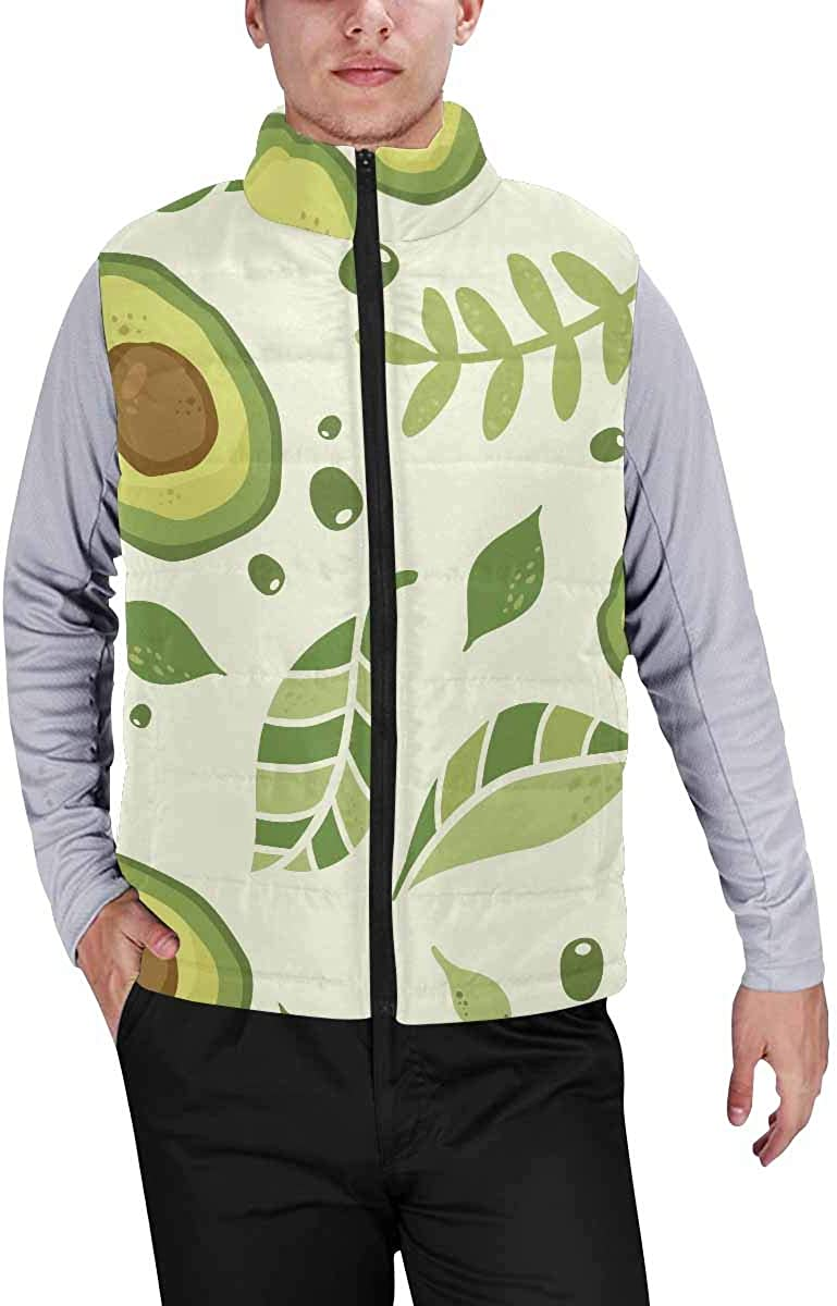 InterestPrint Men's Soft Stand Collar Jacket for Fishing Hiking Cycling Car in the Beach with a Surfboard
