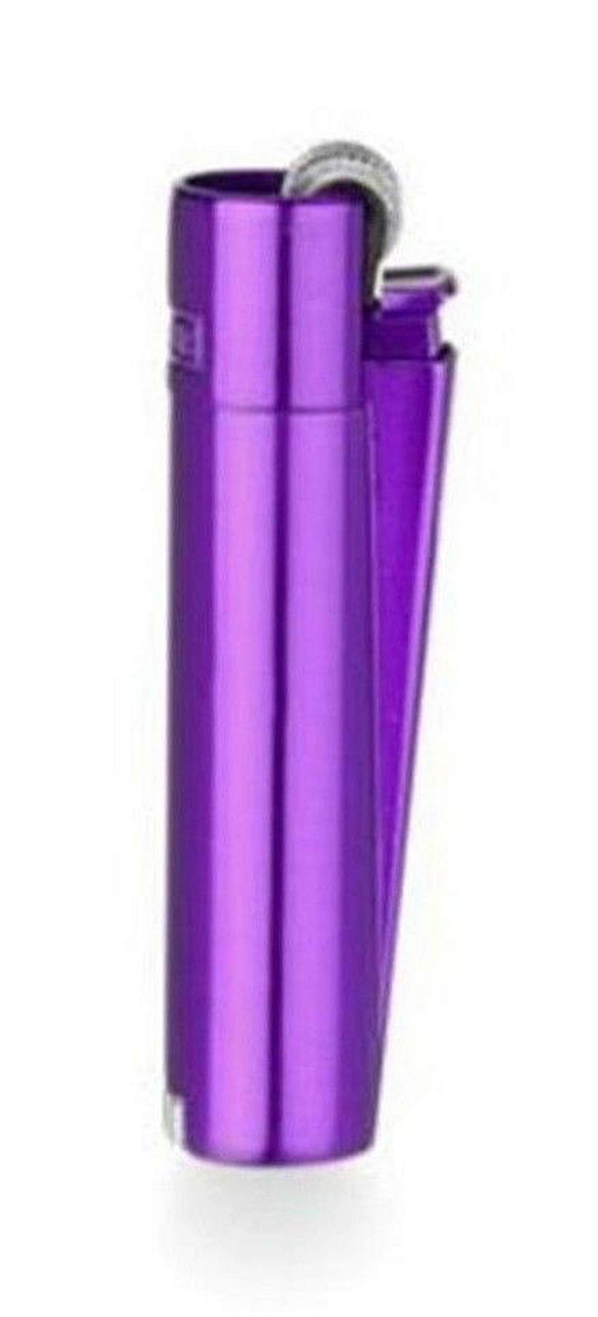 Clipper - Mechero de Metal con Caja de Regalo, Recargable, Color Morado: Amazon.es: Juguetes y juegos