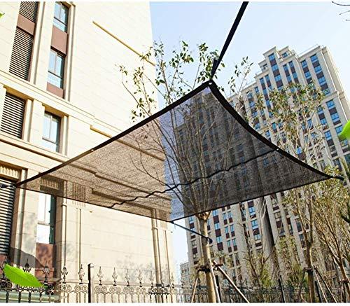 Protector solar UV Resistente pantalla de tela 50% de sombra neto Parasol Vela Lona Mesh de efecto invernadero flor de la planta al aire libre Patio, Negro, 6x9m, Tamaño: 6x10m, Color: Negro (Tamaño p