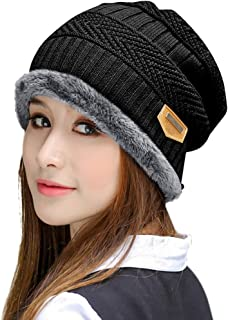 HINDAWI Winter Hats for Women & Men Slouchy Beanie Skull Caps Warm Snow Ski Knit Hat Cap