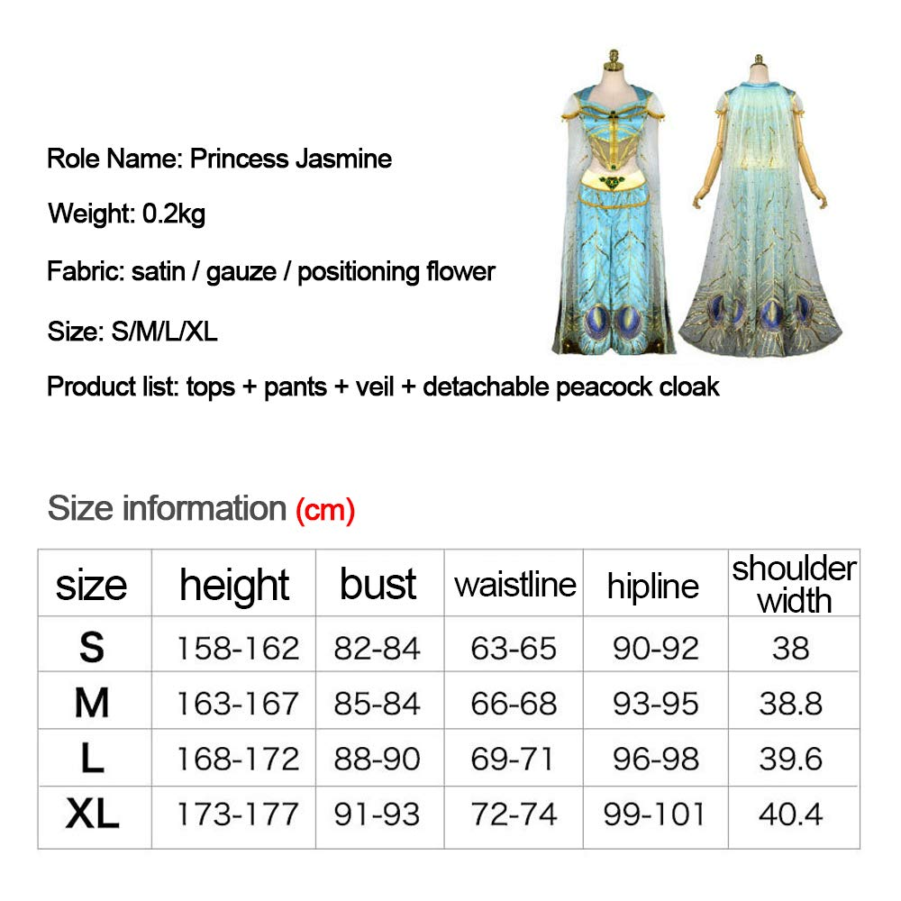 MASII Disfraz/Traje De Lady Jasmine Arab Princess para Juegos De ...