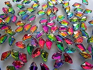 fijaci/ón sin calor accesorio acr/ílico piedras strass 200pcs cose en rhinestones Mutilcolor gota de agua de cristal 7/x 12/mm