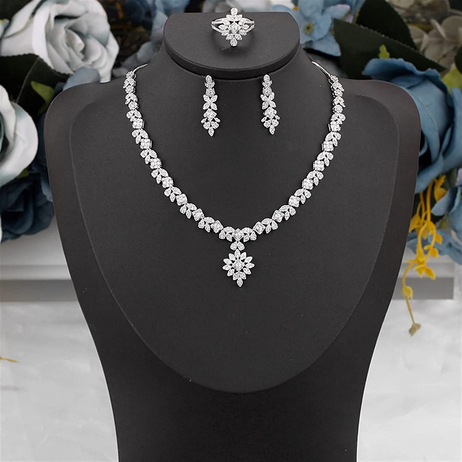 Excellence SYXMSM Jewellery Set 4 PCS for Jewelry Direct stock discount Wedding Engagement Cu