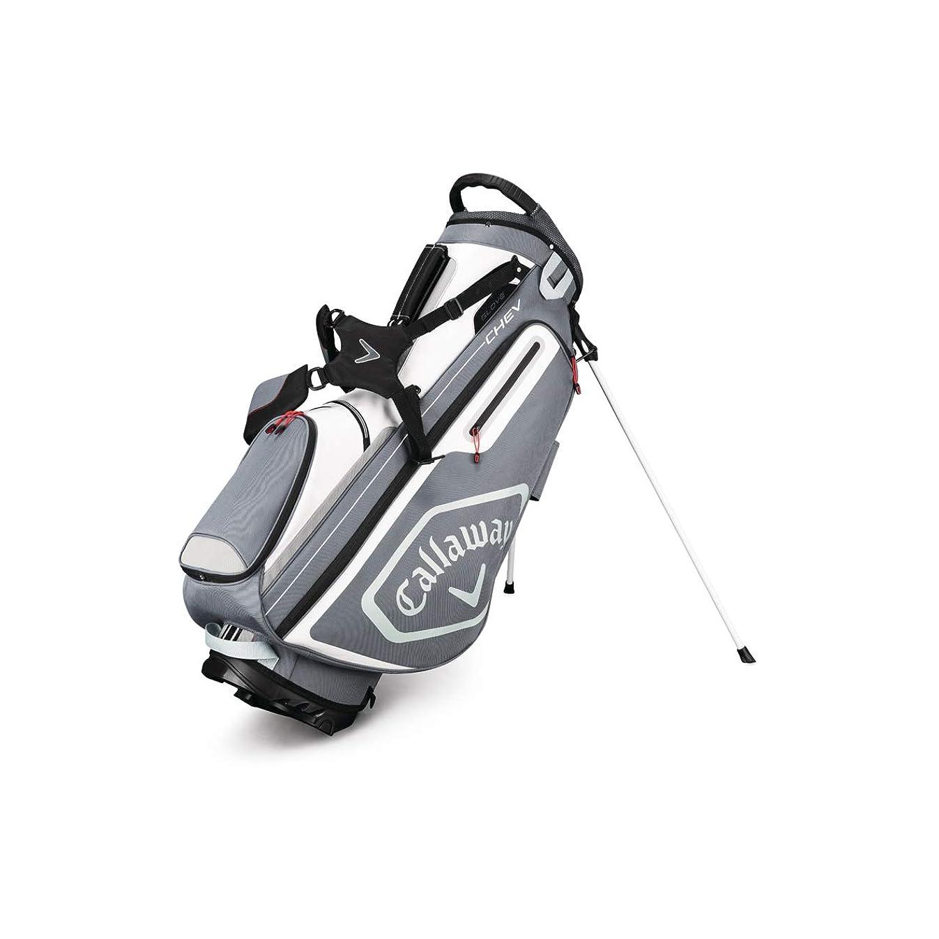 グレートバリアリーフ南東懲らしめCallaway CHEV Golf Stand Bag Titanium/White/Silver [並行輸入品]