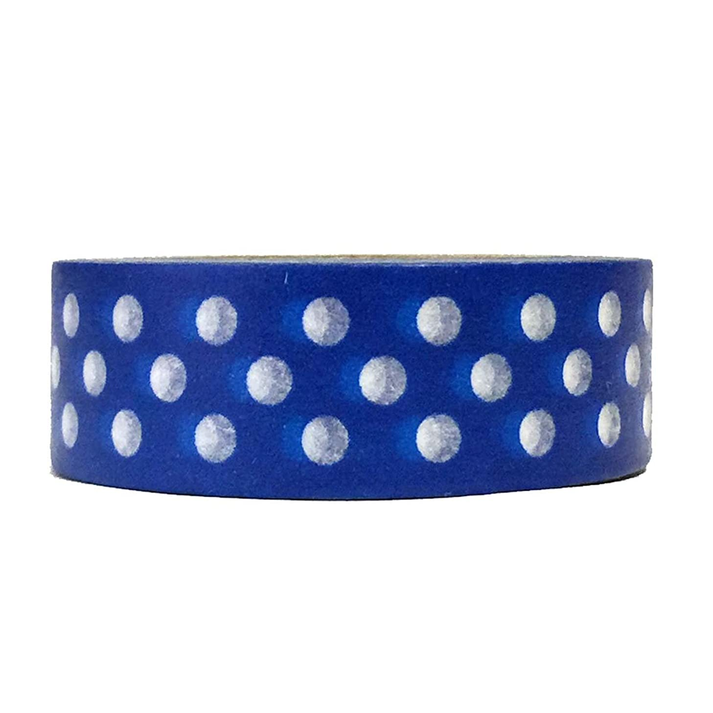 Allydrew Decorative Washi Masking Tape, Royal Blue Dots nfjexo0641611