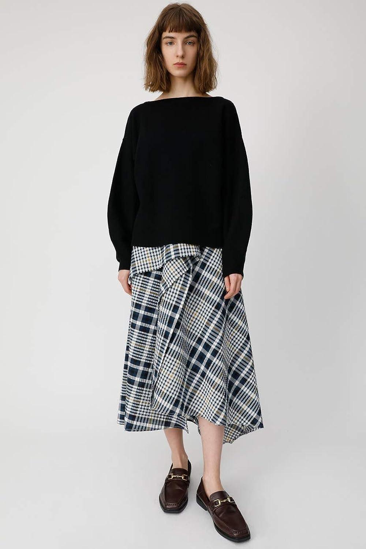[マウジー] スカート CHECK FLUTTER SKIRT レディース