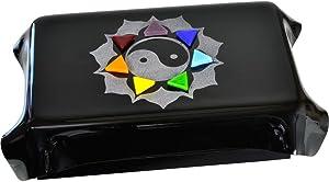 New Age Source Art Glass Tarot Box - Chakra